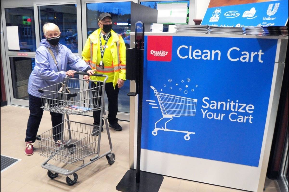 The new Clean Cart technology makes sure carts are well-sanitized for customer use. (Michael Briones photo)
